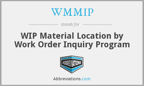 What does WMMIP stand for?