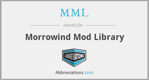 MML - Morrowind Mod Library