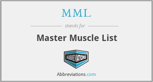 MML - Master Muscle List