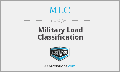 MLC - Military Load Classification