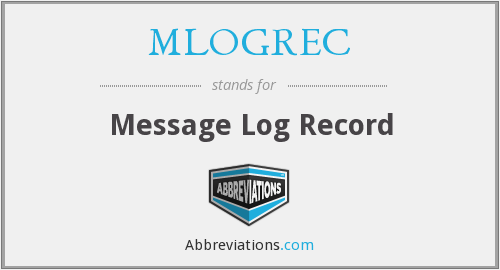 What does MLOGREC stand for?