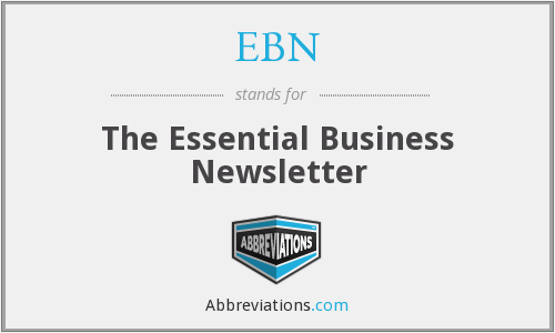 EBN - The Essential Business Newsletter