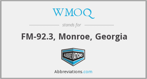 What does WMOQ stand for?