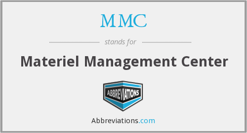 MMC - Materiel Management Center