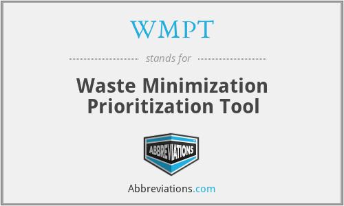 WMPT - Waste Minimization Prioritization Tool