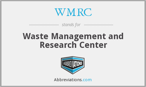 What does WMRC stand for?
