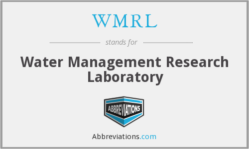 WMRL - Water Management Research Laboratory