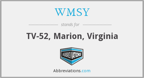 WMSY - TV-52, Marion, Virginia