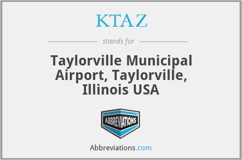 KTAZ - Taylorville Municipal Airport, Taylorville, Illinois  USA