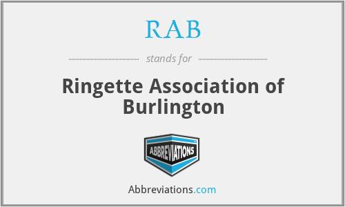 RAB - Ringette Association of Burlington
