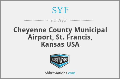 SYF - Cheyenne County Municipal Airport, St. Francis, Kansas USA
