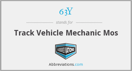 63Y - Track Vehicle Mechanic Mos
