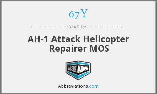 67Y - AH-1 Attack Helicopter Repairer MOS