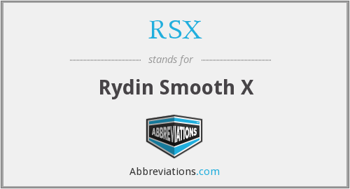RSX - Rydin Smooth X