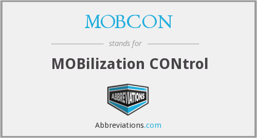 What does MOBCON stand for?