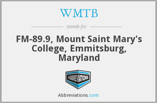 WMTB - FM-89.9, Mount Saint Mary's College, Emmitsburg, Maryland