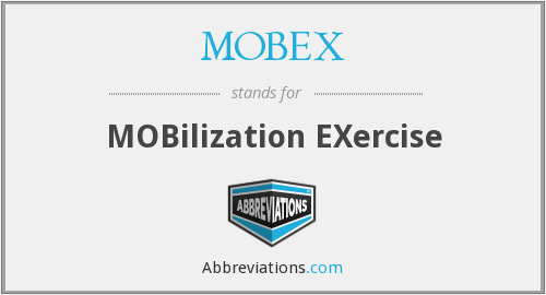 MOBEX - MOBilization EXercise