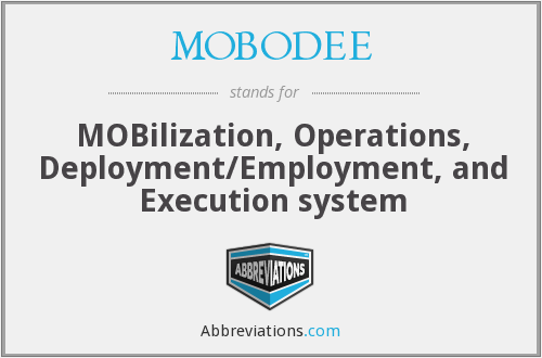 What does MOBODEE stand for?
