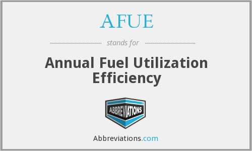 AFUE - Annual Fuel Utilization Efficiency