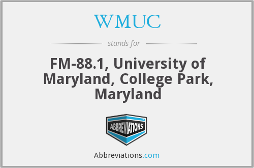 What does WMUC stand for?