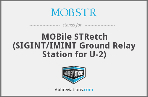 MOBSTR - MOBile STRetch (SIGINT/IMINT Ground Relay Station for U-2)