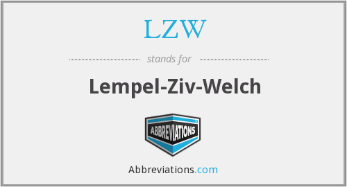 What does LZW stand for?