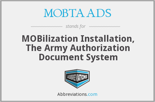 What does MOBTAADS stand for?