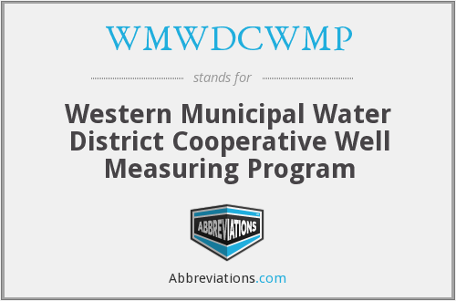 WMWDCWMP - Western Municipal Water District Cooperative Well Measuring Program