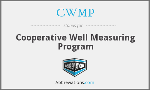 CWMP - Cooperative Well Measuring Program