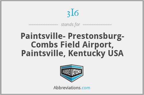 3I6 - Paintsville- Prestonsburg- Combs Field Airport, Paintsville, Kentucky USA