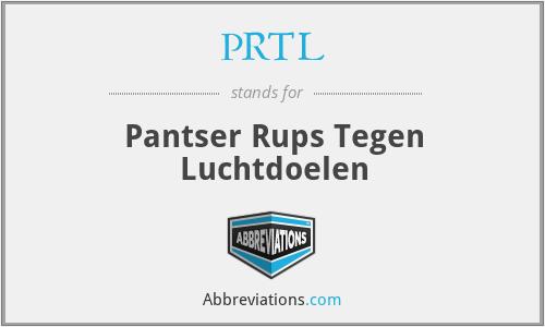 PRTL - Pantser Rups Tegen Luchtdoelen