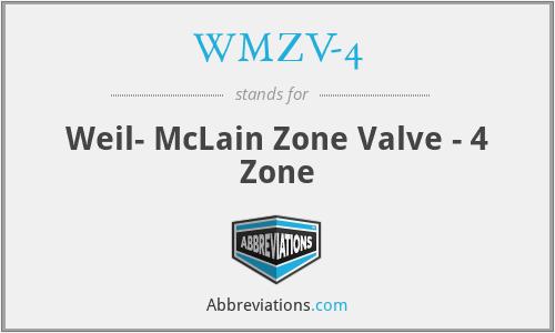 WMZV-4 - Weil- McLain Zone Valve - 4 Zone