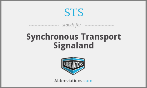 STS - Synchronous Transport Signaland