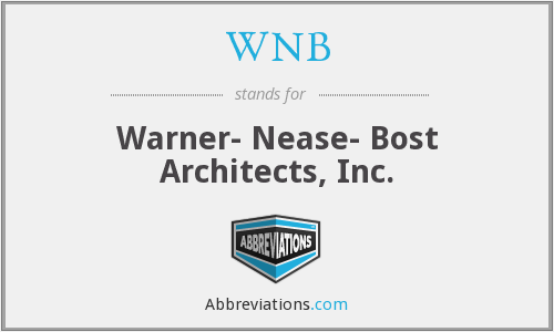 WNB - Warner- Nease- Bost Architects, Inc.