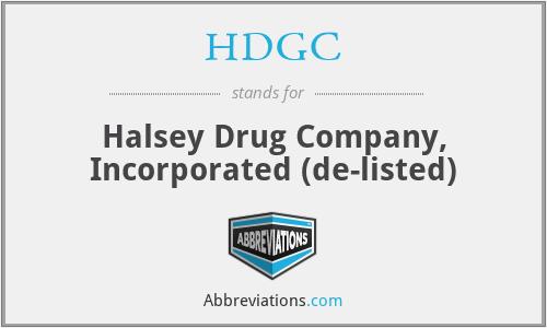 HDGC - Halsey Drug Company, Inc.