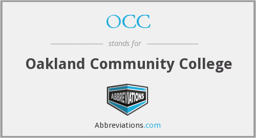 OCC - Oakland Community College