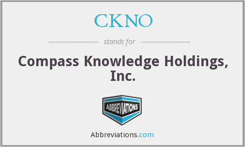 What does CKNO stand for?