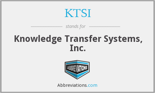 What does KTSI stand for?