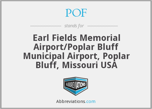 POF - Earl Fields Memorial Airport/Poplar Bluff Municipal Airport, Poplar Bluff, Missouri USA