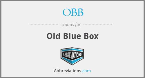 OBB - Old Blue Box