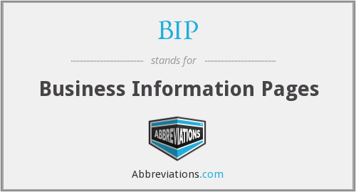 BIP - Business Information Pages