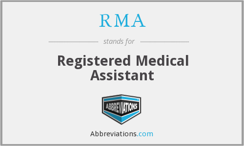 RMA - Registered Medical Assistant