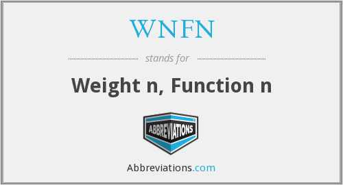 What does WNFN stand for?