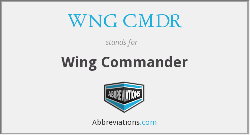 What does WNG CMDR stand for?
