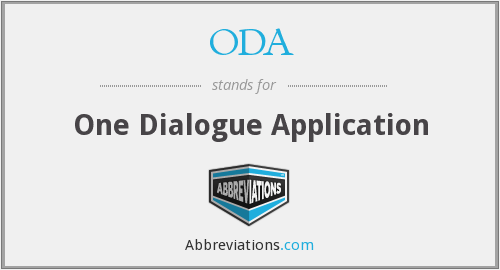 ODA - One Dialogue Application