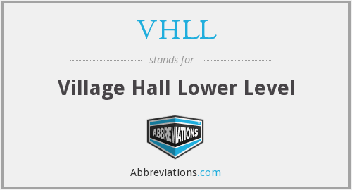 VHLL - Village Hall Lower Level