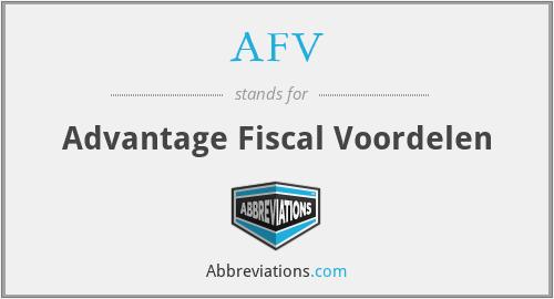 AFV - Advantage Fiscal Voordelen