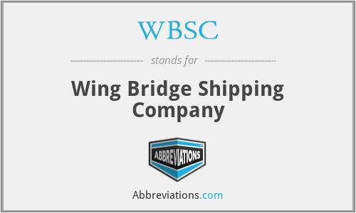 WBSC - Wing Bridge Shipping Company