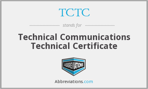 What does TCTC stand for?