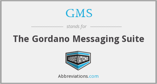 GMS - The Gordano Messaging Suite